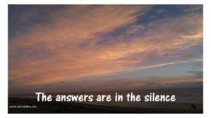 Answers in silence