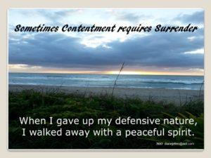 contenment surrender